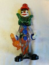 """Vintage Murano Glass Clown 9 1/4"""" Multi Color"""