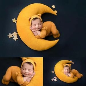 Baby Hat Posing Beans Moon Pillow Stars Set Newborn Photography Props Infants