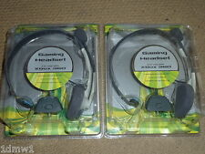 2 x MICROSOFT XBOX 360 LIVE GAMING HEADSETS MICROPHONE BRAND NEW! Mic Wired Pair