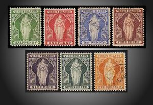 1899 VIRGIN ISLANDS ST.URSULA WITH SHEAF OF LILIES  SCOT 21-27