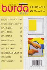 BURDA Schnittmusterpapier Kopierpapier 2 x 83 x 57 Bögen in gelb & weiß