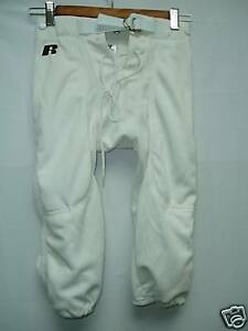 Youth Football Pants Polyester White Snaps Large New
