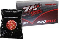 ZAP EXTREME SPORTZ PROBALL 2000 Paintballs - Red/White - WHITE FILL