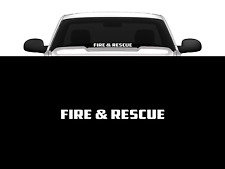 "Fire & Rescue Windshield/Window Decal Banner 23"" Firefighter Front/Back Window"