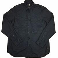G-Star Raw Men's 'Vodan Straight' Black 100% Cotton Button Up Shirt Size L