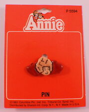 Orphan Annie & Hearts Hat Lapel Pin Mint On Card 1981 Moc P5594