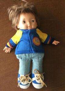 1974 Vintage Fisher Price Joey Lapsitter 206 Boy Doll Plush with Jacket