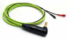 "1.45m Lime Green RaveMaster Cable for Sennheiser HD25 - 1/4"" 6.35mm Angled Jack"