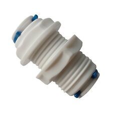 "1/4"" Tube OD Quick Connector White Fittings Bulkhead for Dispense, Ro Units"