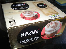 NESCAFE GOLD CAPPUCCINO UNSWEETENED 50 ONE MUG COFFEE SACHETS 50 x 14.2g