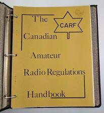 CARF The Canadian Amateur Radio Regulations Handbook 1970 Federation TVI Booklet