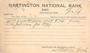 H66/ Hartington Nebraska Postcard c1904 National Bank Credit Hay  29