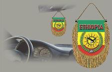 ETHIOPIA REAR VIEW MIRROR WORLD FLAG CAR BANNER PENNANT