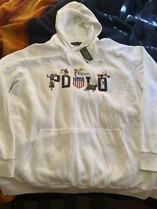 NWT Polo Ralph Lauren Stadium K Swiss Hooded Sweatshirt 2XLT