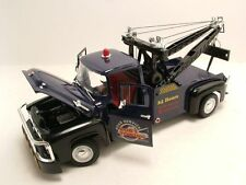 Welly 1/18 Scale 1956 Ford F-100 Wrecker Tow Truck Blue Diecast Model 19834