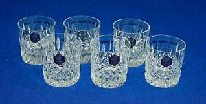 Stuart Crystal Set 6 Shaftesbury 8oz Rummer, Whisky Tumbler Glasses. Signed.