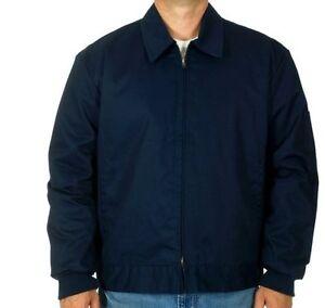 "Men's Work Jacket Mechanic Style Zip Jacket Navy JH Work Wear Brand New ""SALE"""