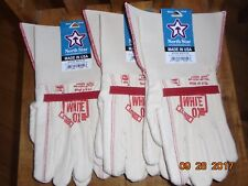 NORTH STAR WHITE OX 1015 Gauntlet Gloves 3 pair X- LARGE made in the U.S.A.