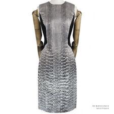 Jason Wu Luxurious Grey Black Snake-Print Silk Hourglass Illusion Dress US6 UK10