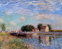 Wall Art Print on Canvas The Canal Alfred Sisley Painting Giclee Repro Small