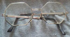 Vintage Frame France Lottet 20/000 14K Gold Octagon France  Glasses