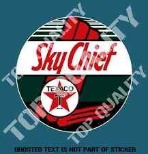 VINTAGE TEXACO SKY CHIEF Decal Sticker Vintage Petrol Americana Hot Rod Stickers