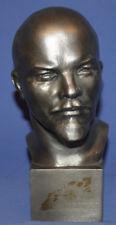 Vintage Russian Metal Art Work Head Sculpture Lenin