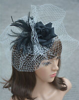 Womens Leopard Sinamay Fascinator Cocktail Hat Wedding Kentucky Derby Party A135