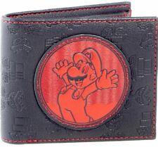 Nintendo Super Mario Bros. - Red Mario Patch - Bi-Fold Mens Wallet