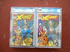 X-Force #1 CGC 9.0VF/NM & Gold 2nd print #1 CGC 9.8 NM/MT (Bundle)