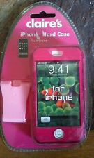 BRAND NEW! Claire's Pink iPhone Hard Case-Fits Original iPhone/iPod - L@@KY!