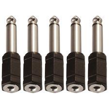 """3.5mm Mini Jack Hembra a 6.35mm Adaptador Convertidor Conector Jack Mono de 1/4"""" X 5"""