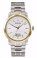 Bulova Men's 98B214 Quartz Two Tone Stainless Steel Dress Watch