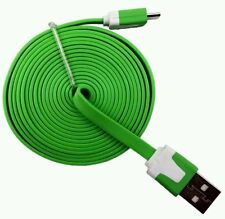 Samsung s2 s3 s4 & s5 charger cable 3 meters long Green