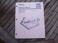 Ford New Holland Series 951B Rotary Cutter Owners Operators Manual Guide Book