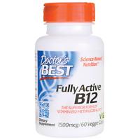 Doctor's Best Fully Active B12 1,500 mcg 60 Veg Caps