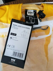 Helly Hansen Work Wear Mens Mandal Jacket 70129 Yellow Hooded 100% PVC