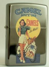 CAMEL ZIPPO LIGHTER PIN UP CAMEL  GIRL  IN SHORTS     CZ #  860