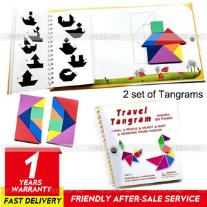 Travel Tangram Puzzle Magnetic Pattern Block Book For Toddlers Educational Toy