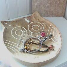 Holz Eule Dekorativ Schale Shabby chic Sass & Belle Owl Liebhaber Geschenk