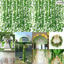 24Pcs 2M Artificial Ivy Vine Fake Foliage Hanging Leaf Garland Plant Party Decor