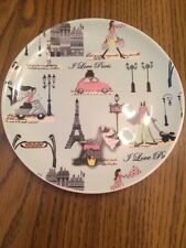"""I Love Paris"" Decorative Ceramic Dessert Plate 6.5"" By Boston International"