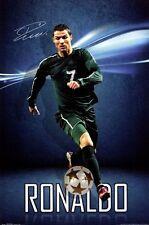REAL MADRID CHRISTIANO RONALDO SOCCER FOOTBALL POSTER 22X34 NEW FREE SHIPPING