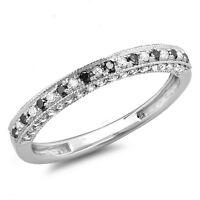 0.40 Carat 10K White Gold Diamond Ladies Anniversary Wedding Band (Size 6)