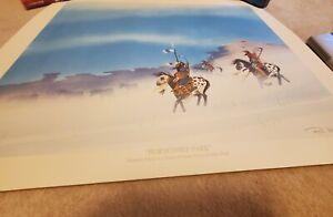 HORSETHIEF PARK Rance Hood signed limited edition Pikes Peak Native American art