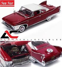 SUNSTAR PLATINUM  SS-5424 1:18 1960 PLYMOUTH FURY HARD TOP PLUM RED