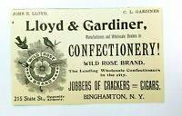 1897 Llloyd & Gardiner Confectionery Cigars Binghamton New York Advertisement
