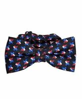 Texas Flag & Map Banded Bow Tie