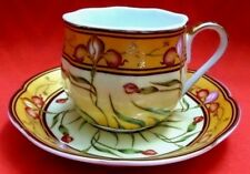"""LIMOGES RARE STUNNING """"SO FRENCH"""" DECOR DU GALION GOLD GILT CUP & SAUCER"""