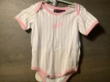 DODGERS ONE Piece Baby Girl Pink  Outfit SIZE 6-9 MONTHS Mighty Mac Sports